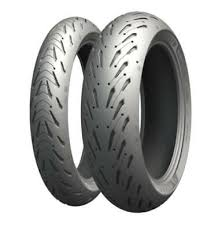 Michelin <b>Pilot Road 5</b> Tire Combo 120/70ZR17 180/55ZR17 Front ...