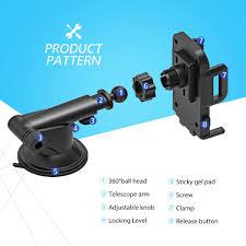 Mpow 4 6 inch <b>Adjustable</b> Dashboard Cellphone <b>Car Mount</b> ...