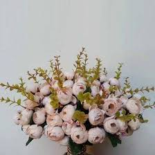 1Pc 15 Heads <b>5 Branches</b> Artificial <b>Rose</b> Buds Wedding Home ...