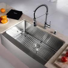 undermount kitchen sink stainless steel: kraus  inch farmhouse single bowl black and stainless steel home depot kitchen