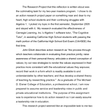 example of reflective essay cover letter