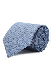 Мужской синий <b>шелковый галстук HUGO</b> — купить за 5600 руб. в ...