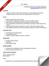 cashier resume objective resume examples objective