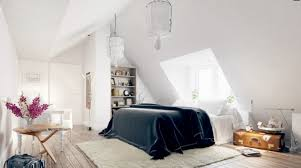 Retro Bedroom Decor Eclectic Attic Room Interior With Sloped Ceiling And Wood Floor