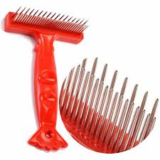 Double Row <b>Pet</b> Comb Stainless Steel Pins <b>Dog Cat Grooming</b> ...