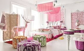 exquisite ideas in pink silk canopy bed also white wooden bench and red furry rug along with colorful pattern pouf and pink velvet button tufted wall bedroomexquisite red white bedroom