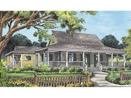 Campville Country Acadian Home Plan D    House Plans and MoreCountry Acadian Home Design With Wrap Around Porch