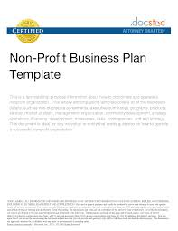 the one page business plan for non profit organizations term paper