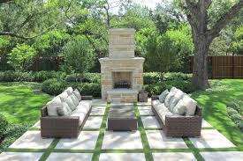patio stone fireplace