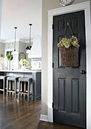 happy black painted interior doors