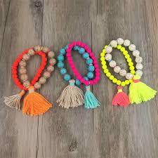Bohemian Shell Charm Bracelet <b>Tassel</b> Glass Beaded Fashion ...