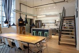 Industrial Style Kitchen Table Fresh Residential Project Features An Eclectic Design In Toronto