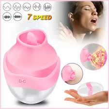 Rechargeable <b>Nipple Sucker Vibrator</b> Nipple Clitoral Tongue ...