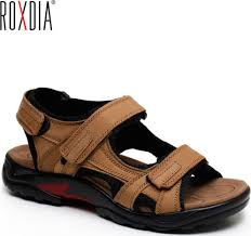 ROXDIA New Fashion <b>Breathable Men Sandals</b> Genuine Leather ...