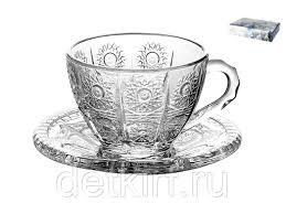 <b>Набор чайных пар</b> 1/6 200мл п/уп. <b>Хрустальное</b> солнце TZ ...