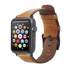 Insten <b>Genuine Leather Band For</b> Apple Watch 42mm 44mm All ...