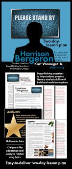 best images about short story harrison bergeron harrison bergeron worksheets and multimedia for kurt vonnegut jr s short story