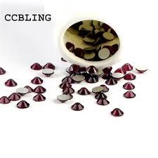 CCBLING <b>Crystal</b> Amethyst <b>ss3 ss30</b> bag Nail Rhinestones Flat ...