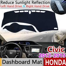 for Honda Civic 10 2016~2019 Anti Slip Mat Dashboard Cover Pad ...