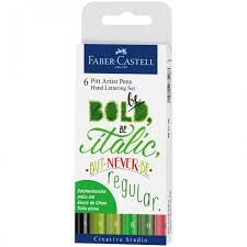 <b>Faber</b>-<b>Castell Набор</b> капиллярных ручек Pitt Artist Pen Lettering ...