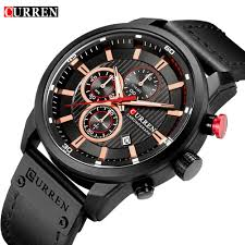 CURREN Chronograph Mens Watches <b>Top Brand Luxury Fashion</b> ...