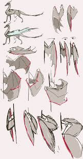 17 best images about drawing stuff hand reference folded wings reference part2 by remarin