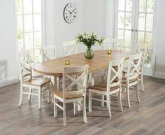 cream compact extending dining table: buy the chelsea oak amp cream extending dining table with cavendish chairs at oak furniture superstore