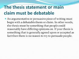 tips for writing your thesis statement determine what kind of