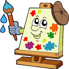 Resultado de imagen de dibujo de niños poniendo pegatinas