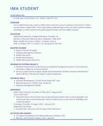 ima student career portfolio resume