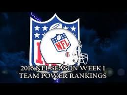 2016 NFL SEASON Week 1 Team Power Rankings - YouTube
