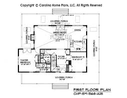 Small Story Open House Plan CHP SM   A S Sq Ft   Affordable    SM  First Floor Plan