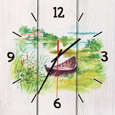 <b>Настенные часы</b> Лодочка 40 х 40 см