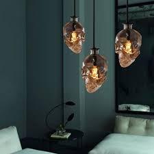 vintage skull head glass pendant light hanging pendant lamps for art decoration edison pendant lights e14 buy pendant lighting