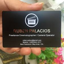 <b>100pcs</b>/<b>lot custom</b> business <b>cards</b> black <b>metal card</b> matte finish ...