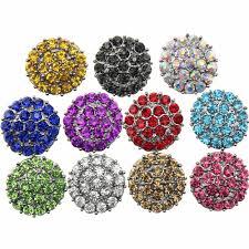 <b>10pcs</b>/<b>lot</b> 11 color Snap Jewelry High Quality Rhinestone <b>Flower</b> ...