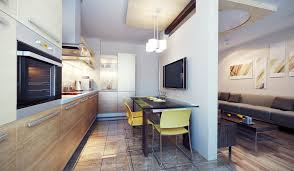 apartment kitchen design: small kitchen and eating area in an apartment