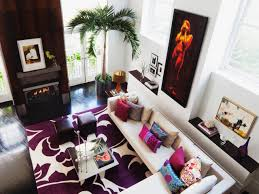 Purple Living Room Design Bold Modern Living Room Diego Alejandro Rincon Hgtv