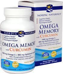 Nordic Naturals <b>Omega Memory with Curcumin</b> -- 975 mg - 60 Softgels