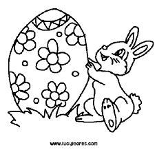 Small Picture Happy Easter Bunny Coloring Pages GetColoringPagescom