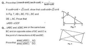 Introduction to Trigonometry CBSE Class    Extra Questions With     cbse solved sample papers for class    maths sa  set c