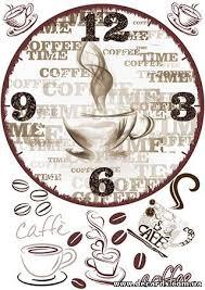 """Декупажная карта А3 <b>часы</b> """"Coffee time"""" Диаметр <b>часов</b> 290 мм ..."""