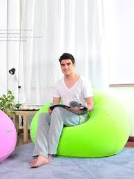 Buy <b>1 Pc</b> Inflatable Sofa <b>Fashion</b> Ball Pattern Design Leisure Comfy ...