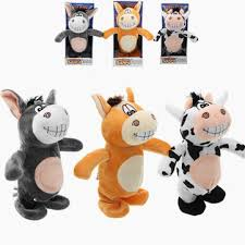 20cm talking donkey sound record <b>stuffed animal plush</b> cow walking ...