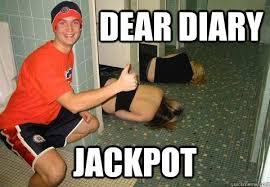 Dear Diary Jackpot - quag - quickmeme via Relatably.com