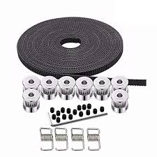 Kee pang <b>10M Rubber Opening Belt</b> 6mm Width+8pcs GT2 Pulley ...