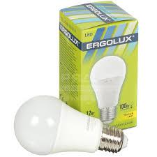<b>Лампа светодиодная Ergolux LED-A60-12W</b>, 12 Вт, E27, теплый ...