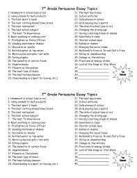 Essay High School Persuasive Essay Topics Persuasive Essay Prompts     Metricer com