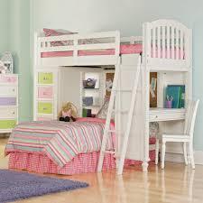 oak wood bunk bed in white finished built in desk and ladder having several tier open bunk bed dresser desk