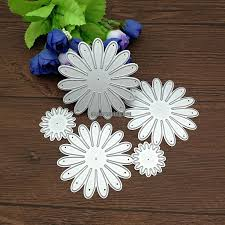 <b>5pcs Set</b> Craft Dies <b>Flower</b> Decor <b>Metal Cutting</b> Dies Scrapbooking ...